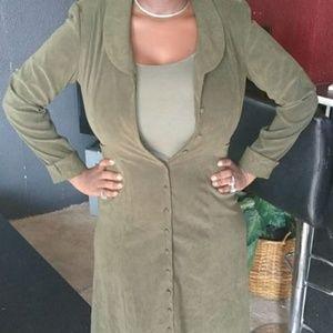 J.Crew!!!! trench coat dress olive green